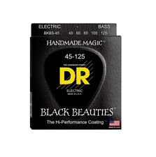 DR Strings BKB5-45 Black Beauties 5-String Electric Bass Strings, 45-125