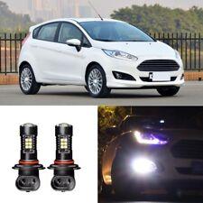 2x Canbus H11 3030 21SMD LED DRL Daytime Running Fog Light Bulbs For Ford Fiesta
