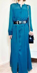 ZARA NEW PLEATED LONG SHIRT DRESS SIZE L