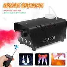 Nebelmaschine RGB LED Rauch Show Bühneneffekt Disco 500W + Griff+ Fernbedienung