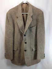 Harris Tweed Blazer Jacket Suit Coat Mens 100% Scottish Wool Elbow Patches USA