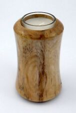 Hand turned Mimosa wooden candleholder