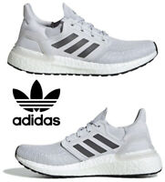Adidas Ultraboost 20 Running Shoes Women's Casual Sneakers Athletic Grey White