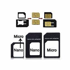 3 Pack Adapter Set - Micro SIM, Nano SIM & Standard SIM adapters iPhone 5 4S 4