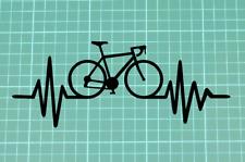 Bicycle Bike Cycling Heartbeat Car/Van/Window/Bumper Vinyl Sticker/Decal 150mm