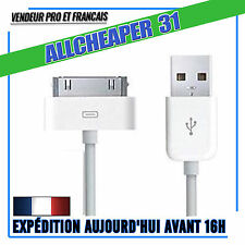 Câbles USB iPhone 4 4S 3GS 3 iPad 2 3 4 Ipod Touch Nano  30 Broches