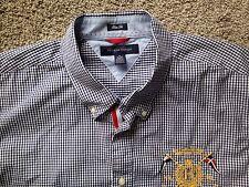 TOMMY HILFIGER Shirt XL Slim Fit Embroidered #5 On Back Gingham