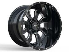 28X14 Xtreme Mudder XM 323 Wheels Black Rims Lifted 6lug Tahoe Silverado F150