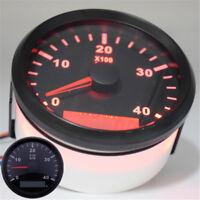 Boot RPM Drehzahlmesser Analog 0-4000 RPM Rot LED Digital Stundenzähler 85mm 1x