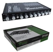TPT-EQ7 7 banda ecualizador gráfico control a nivel de Subwoofer por Timpano Ecualizador 7V Controlador