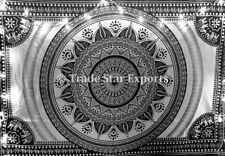 Indian Elephant Mandala Wall Hanging  Hippie Tapestry Black And White Dorm Decor