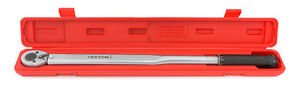 1/2 in. Drive Click Torque Wrench 25-250 ft./lb. TEKTON /with storage case