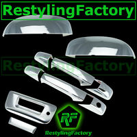 07-13 Chevy Silverado Chrome Top Mirror+2 Door Handle+Tailgate w/ Keyhole Cover