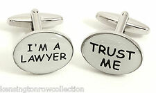 "MENS GIFTS - ""TRUST ME"" & ""I'M A LAWYER"" CUFF LINKS - LEGAL PROFESSION CUFFLINKS"