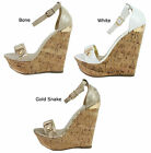 New Delicious Nicoya-S Patent Buckle Open Toe Platform Wedge Sandals Size 7-11