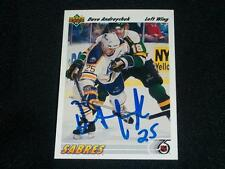 Buffalo Sabres Dave Andreychuk Auto Signed 1991/92 UD Card #124  TOUGH  K