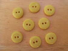8 YELLOW VINTAGE CIRCLE DESIGN CASEIN SCHWANDA Buttons NOS SEWING CRAFT 14mmx4mm