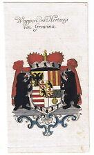 Circa 1755 STEMMA NOBILTÀ duca di Gravina araldica Weigel Köhler RAME chiave
