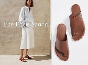 NIB Vince Edris Leather Sandal Slides, Cognac (Brown) Size 5.5~10 $250