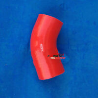 ID 3''inch 76mm 45 Degree Silicone Elbow Hose Turbo Intercooler Pipe RED