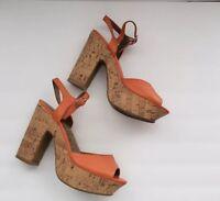 Jellypop Garden Ankle Strap Platfoms Heels Sandals Women Size 7 M