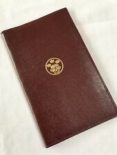 ORGANISER~RARE COUTTS FULL LENGTH BREAST PKT WALLET-FULL BURGUNDY CALF LEATHER-A