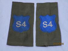 DISTINTIVO DI GRADO : Royal Militare Academy Sandhurst, rmas , blu su OLIVA, (S4