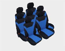 7x Asiento Cobertura de Forro Protectores Funda Conjunto Azul para CITROEN VW