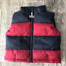 Gymboree Vest Size 12-24 Months Boys Vest Blue Red Puffer Jacket Airplane Zipper