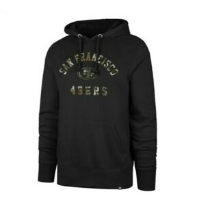 San Francisco 49ers Hoodie '47 Brand black 2X XX-large XXL Camouflage sweatshirt