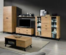 Wohnzimmer-Set Chopra III Mediawand Couchtisch Vitrine Kleiderschrank Kollektion