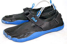 FILA EZ Slide Skele-Toes Men's 11 Black Blue 1PK000EX-003 Barefoot Athletic Shoe