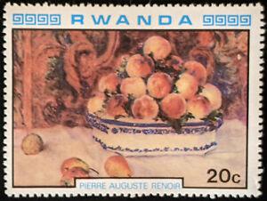 Stamp Rwanda SG996 1980 20c Impressionist Paintings Renoir Mint Hinged