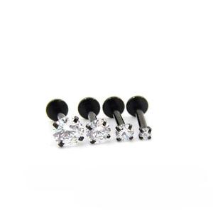 16g CZ Gem Labret Tragus Lip Ring Monroe Ear Cartilage Stud Earring Piercing