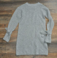 NEXT Girls 9 Years Grey Long Sl. Sweater Jumper Dress Casual