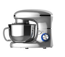 Heska 1500W Food Stand Mixer 5.5Litre Mixing Bowl Splash Guard Beater Silver NEW