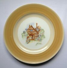 VINTAGE ESTATE SHELLEY HARMONY WARE BIEGE HAND PAINTED PLATE ERIC SLATER