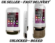 New Condition Nokia Brand C2-03 Slide Dual Sim White Unlocked Touch & Type Phone