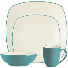 Noritake Colorwave Turquoise Square 32Pc Dinnerware Set, Service for 8