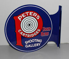Peters Ammunition Shooting Gallery Flange Sign Gun Rifle Hunting Modern Retro