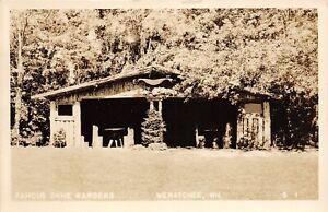 H56/ Wenatchee Washington RPPC Postcard c1940s Famous Ohme Gardens