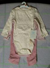 Baby Girl 6-9 Month Cloud Island 3-Piece Set Pink Long-Sleeve Bodysuit Pants-NEW