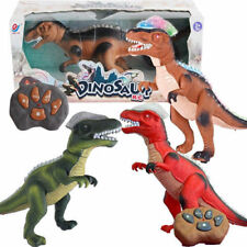 NEW BROWN REMOTE CONTROL DINOSAUR WALKING ROBOT SOUND LIGHT KIDS MOVING ELECTRIC