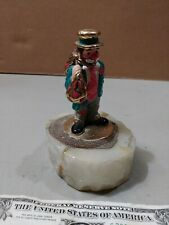 Ron Lee Clown Figure Hobo Two Bagger Gold Hat 94 on A Marble Base