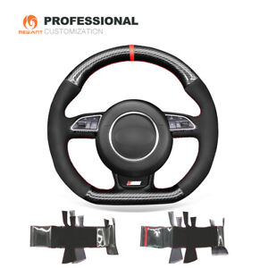 Suede Carbon Fiber Steering Wheel Cover for Audi A5 A7 RS 5 RS 7 S3 S5 S6 SQ5