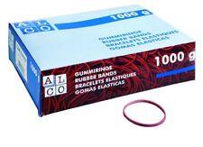 1.000 gr. ALCO 745 Gummiringe Durchmesser 65 mm rot Gummis Gummibänder NEU &OVP