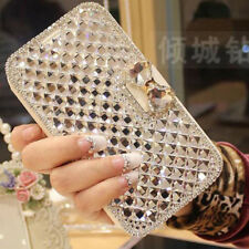 For iphone XS MAX XR 8Plus Diamond Crystal Bling Leather Wallet Case Flip Cover