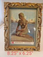 Vintage Hollywood Regency Wooden Carved Picture Photo Frame Rococo Gesso