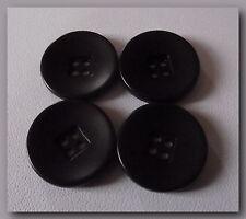 5 BOUTONS Noir mat centre carré * 20 mm * 4 trous neuf  Button sewing 2 cm black