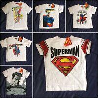Official Genuine DC Comics Superman Super Hero T-shirt Tee Girls Boys Kids